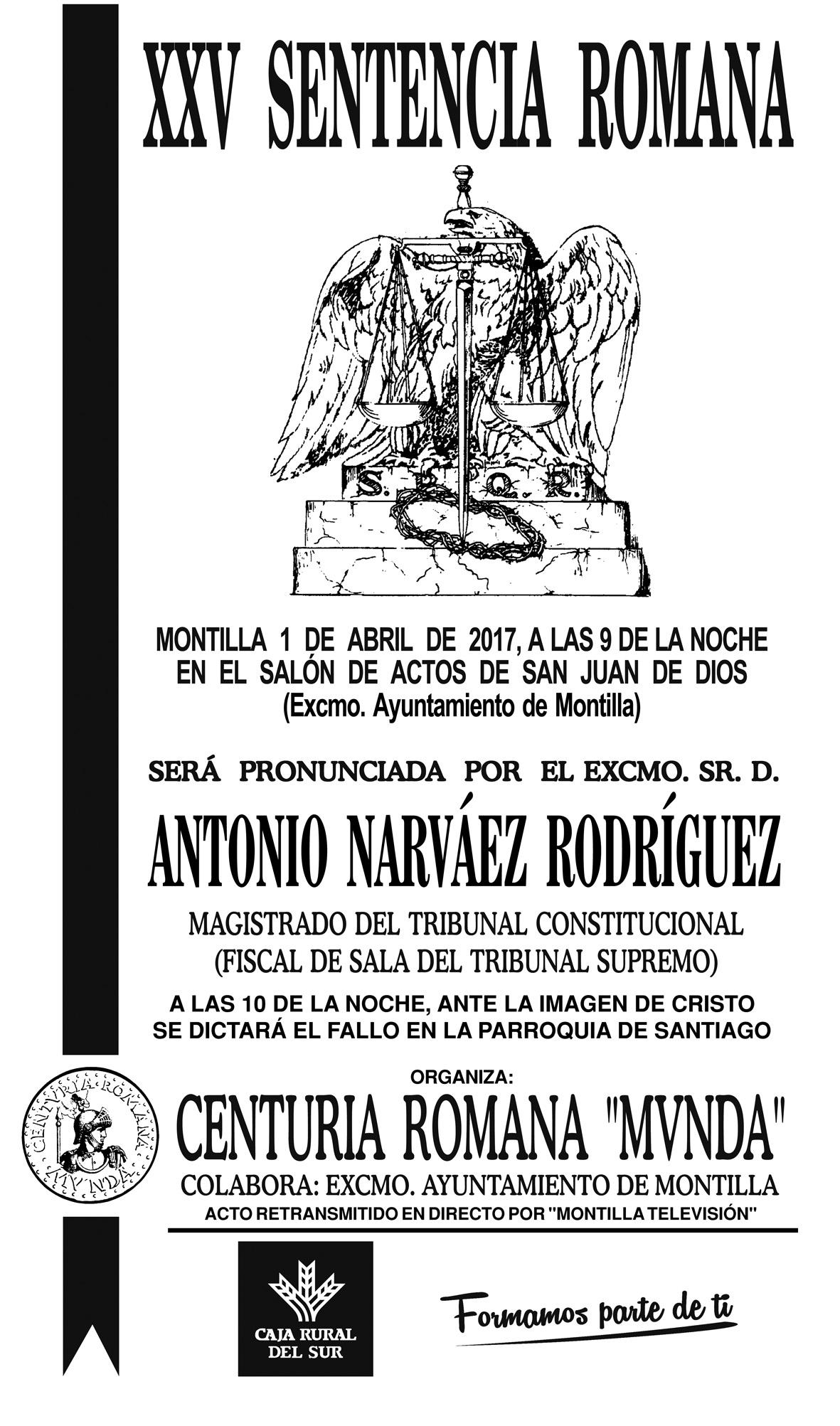 CARTEL Sentencia Romana 2015