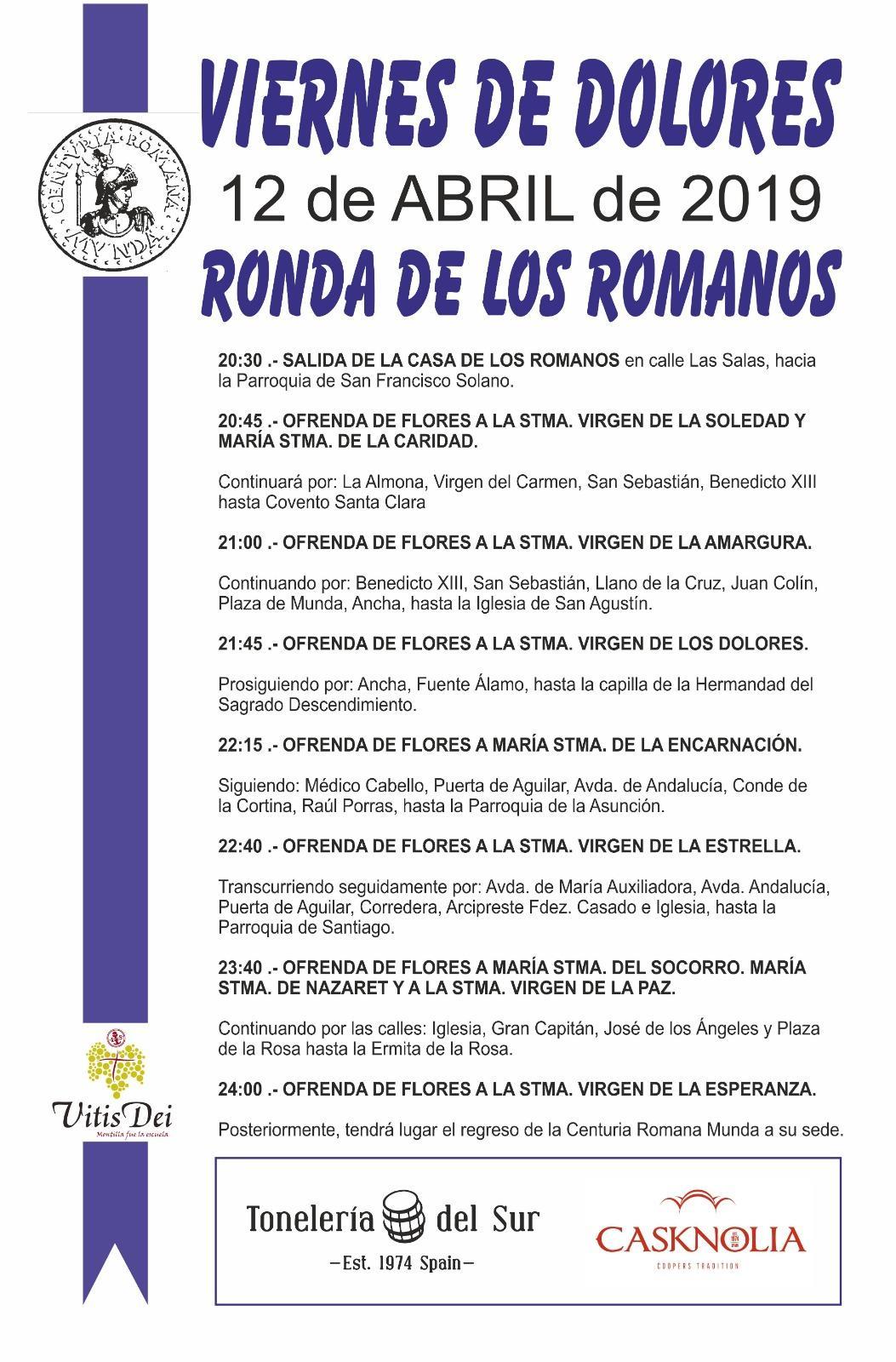 Ronda de los Romanos del Viernes de Dolores